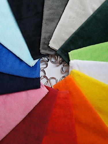 RoLoGOLF Golf Handtuch in vielen Farben! Golftuch Caddytuch (schwarz)