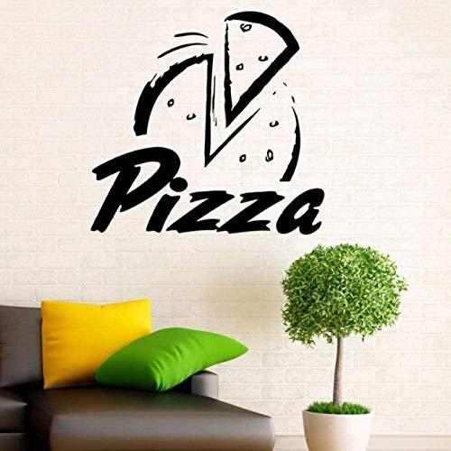 Etiqueta de la pared PVC removible etiqueta de la pared pizzería etiqueta de la pared cocina restaurante hotel pizzería ventana vidrio decoración gabinete cerámica azulejo talla pegatina 46cmx44cm