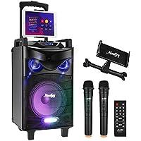 Moukey 540W Karaoke Machine with 2 VHF Microphones