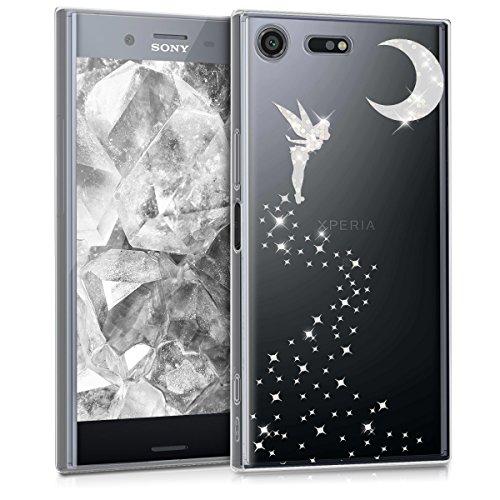 kwmobile Hülle kompatibel mit Sony Xperia XZ Premium - Handyhülle - Handy Hülle Fee Glitzer Silber Transparent