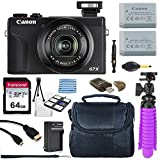 Canon PowerShot G7 X Mark III 20.2MP 4.2X Optical Zoom Digital Camera with 4k Video + 64GB Memory Card + Deluxe Camera Case + HDMI Cable + Spider Tripod + Premium Accessories Bundle