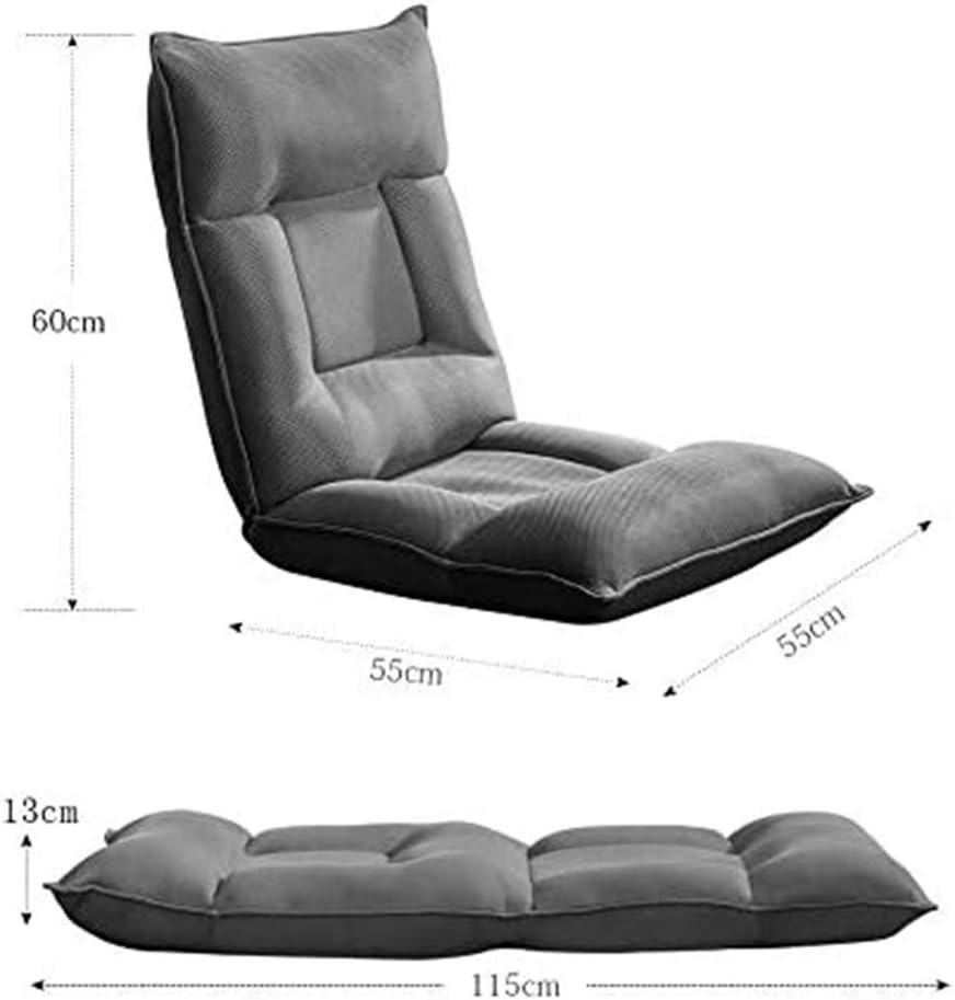 ZZZR Chaise de canapé de Plancher réglable, Support de Dossier rembourré Polyvalent, Chaise de Plancher arrière, chaises vidéo pour Regarder la télévision A
