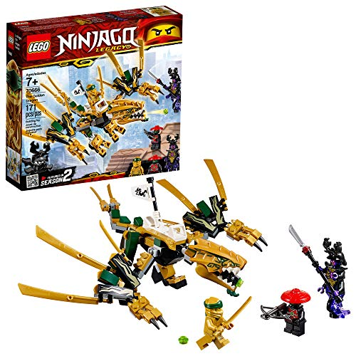 LEGO NINJAGO Legacy Golden Dragon 70666 Building Kit, 2019 (171 Pieces)