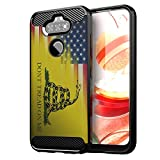CasesOnDeck Case Compatible with LG Aristo 5/ Fortune 3/ Tribute Monarch/ K31/ Phoenix 5 Case - Soft Fitted Flexible TPU Cover Shock Protection (Dont Tread On Me)