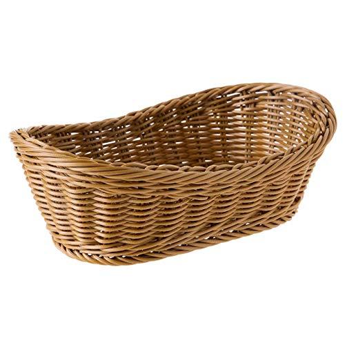 Wobekuy Cestino ovale in vimini intrecciato per il pane da 11 pollici, cestino per alimenti, frutta,...