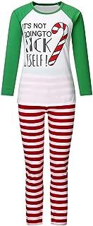 Tronet Family Christmas Pajamas Set - Snowman Lt'S Not Print Crutches Top T-Shirt + Pants Home Service Suit