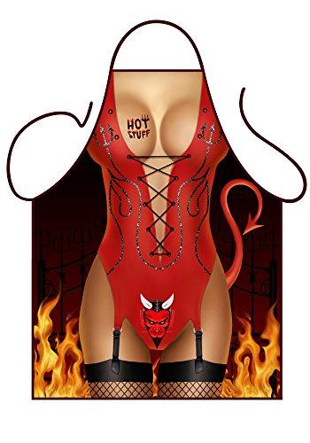 ICONIC APRONS Grembiule Diavolessa Donna Sexy, Rosso, 79 X 56 X 0.1 Cm