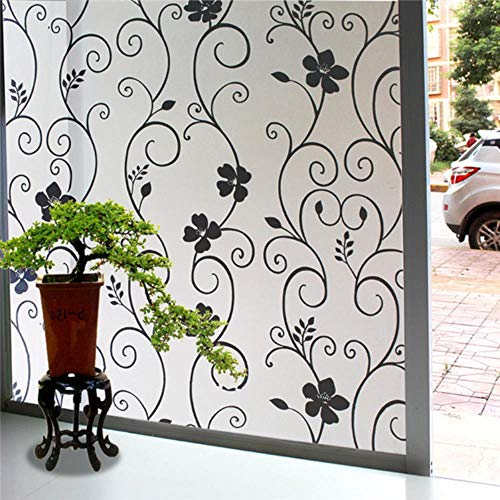 Breed 45cm * lang 300cm mat ondoorzichtig glas raamfolie voor privacy raamstickers zelfklevende glasstickers Home decor gemengde kleur slaapkamer, 45cmX300cm