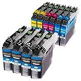 ESMOnline 10 kompatible Druckerpatronen (4 Farben) für Brother MFC J4420DW J4620DW J4625DW J5320DW...