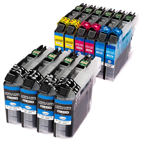 ESMOnline 10 kompatible Druckerpatronen (4 Farben) für Brother MFC J4420DW J4620DW J4625DW J5320DW J5620DW J5625DW J5720DW J880DW J680DW J480DW DCP J562DW J4120DW (LC223)