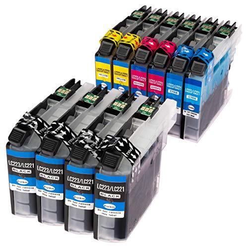 ESMOnline 10 komp. Druckerpatronen (4 Farben) für Brother MFC J4420DW J4620DW J4625DW J5320DW J5620DW J5625DW J5720DW J880DW J680DW J480DW DCP J562DW J4120DW (LC223)