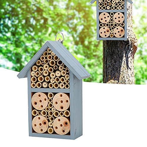 Surebuy Casa de Insectos, Hotel Seguro de Insectos de Estilo único para Suministros de jardín para Insectos y Abejas para Construir nidos y Decorar el jardín