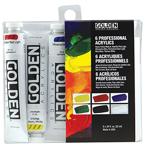 Golden Heavy Body - Acrylfarben - Einfuehrungs Set - 6 Farben