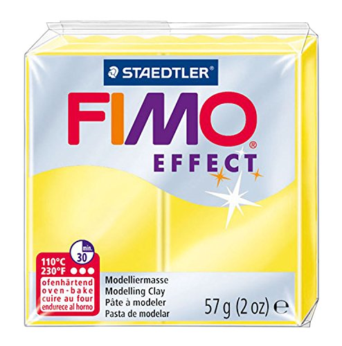 Staedtler Fimo Effect 8020-003 Oven Verharding Boetseerklei 56g Translucent Yellow