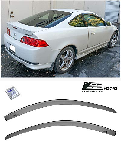 Extreme Online Store for 2002-2006 Acura RSX Integra DC5 | EOS Visors JDM Tape-On Style Smoke Tinted Side Window Visors Rain Guard Deflectors
