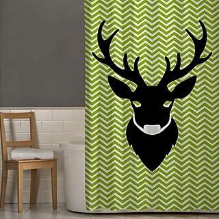 Right Canvas Green/White 180cm x 200cm Shower Curtain - RG138NPIC00036