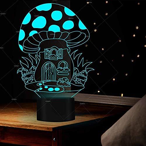 3D Magic Lantaarn Explosieve Paddestoel 3D-lamp Kleurrijke Touch Energie besparende Gift led Nachtlampje Kinderkamer USB led Licht