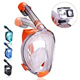 QingSong Full Face Snorkel Mask, Snorkeling Mask with Advanced Safety Breathing System, Give
