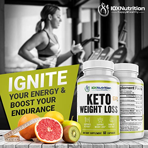 Keto Pills - Supports Keto Burn - Fast Ketosis Diet for Men and Women - Slim Formula with Advanced Keto Pill Capsules - Boost Keto Energy and Metabolism - Pure BHB Keto Pills - 60 Capsules 7