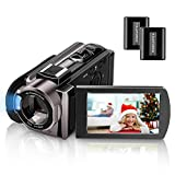 BONHEUR Video Camera Camcorder Full HD 1080P Digital Camera Vlogging Camera For YouTube