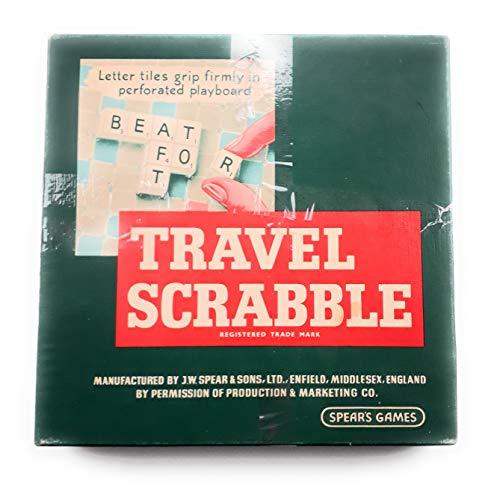 Klassisches 1960Reise-Scrabble von Spears Games.