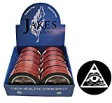Jake's Mint Chew Cinnamon Pouch 10 Cans with DC Crafts Nation Skin Can Cover - Illuminati