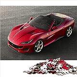 Visionpz Puzzle de 1000 Piezas para Adultos y Adolescentes Ferrari Portofino Juegos de Rompecabezas de Temas Superdeportivo Rompecabezas Juegos Familiares a Gran Escala,Regalos para Amigos 52x38cm