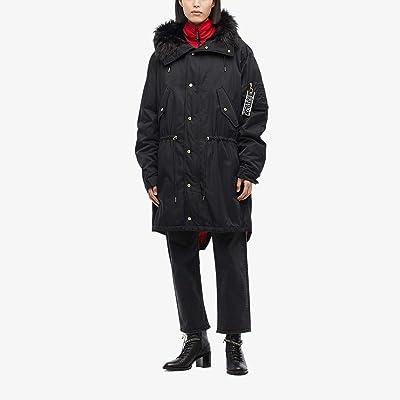 Versace Jeans Couture Warranty Patch Oversized Coat (Black) Men