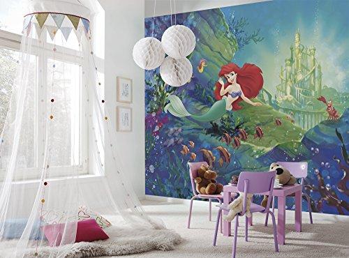 Komar - Disney - fotobehang ARIELS CASTLE - 368x254cm - behang, muurdecoratie, meisjes, kinderkamer, zeemeermin, Arielle, prinses 8-4021
