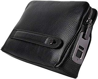 handbag with smart fingerprint system made of natural leather