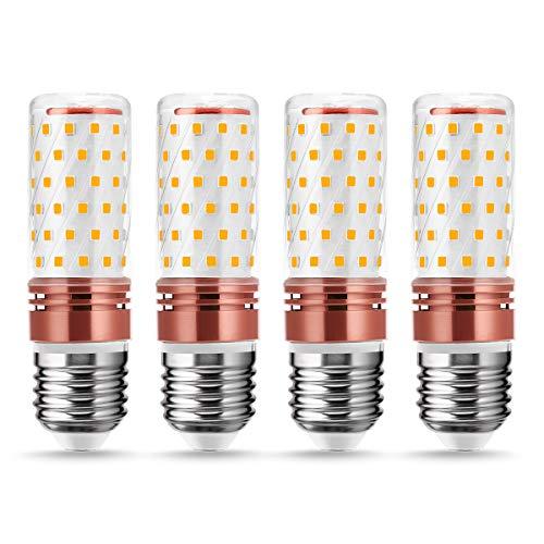 LOHAS Lampadina LED E27, 12W Equivalenti a 100W Incandescenza, 1350LM Bianco Calda 3000K, Alta Luminosità e Risparmio Energetico Lampadina LED, Angolo del Fascio di 360 Gradi, Non Dimmerabile, 4 Pezzi