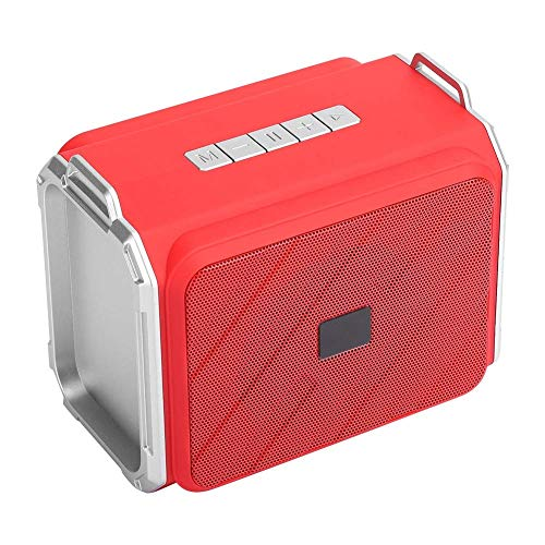 XYSQWZ Altavoz Bluetooth Altavoz Bluetooth Inalámbrico Mini Subwoofer Altavoz Colgante para Exteriores FM Disco Flash USB Tarjeta De Memoria Reproducción De Música En Estéreo (Rojo)