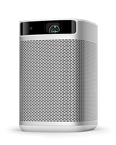 Xgimi Mogo Pro Portable Native Projector, Wi-Fi Smart Mini Movie Projector, 300 ANSI Lumen, Android TV 9.0, 5,000+ Apps, 100 inch Picture, Wireless Bluetooth Speaker for Outdoor Indoor
