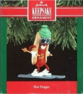 QX4976 Hot Dogger Skiing Hot Dog 1990 Hallmark Keepsake Ornament