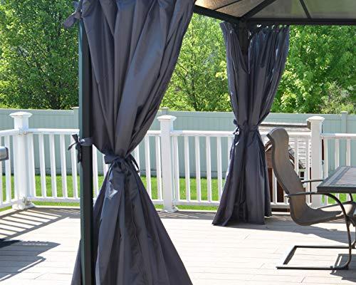 Palram Vorhang-Set passend für Palermo 4300, Kit de rideaux pour tonnelle, Grau