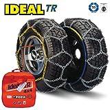 Cadenas de nieve Ideal TR 111resistentes para 4x4 y furgoneta. Ajuste universal para neumáticos de tamaño 235/55R19,...