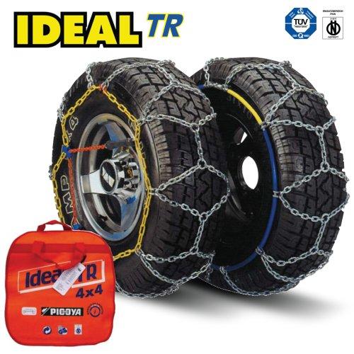 Ideal TR 107 Chaînes à neige résistantes pour 4 x 4 camionnettes – Ajustement universel pour pneus de taille 195/80 R16, 205/65 R17, 205/75 R16 et plus