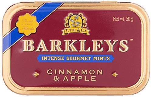 Barkleys Gourmet Mints - Cinnamon & Apple, 6er Pack (6 x 50 g)