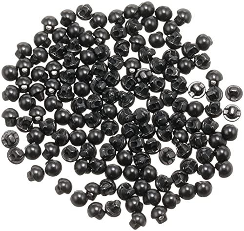 NBK 裏穴 目玉ボタン 144個入 φ4mm 黒 CE140-1-144