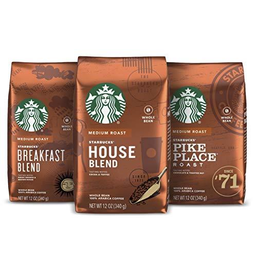 Starbucks Medium Roast Whole Bean Coffee — Variety Pack — 3 bags (12 oz. each)