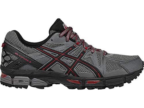 ASICS Men's Gel-Kahana 8 Trail Runner, Shark/Black/True Red, 10.5 M US