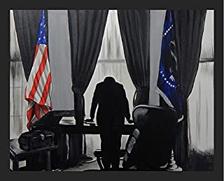 FRAMED Bay of Pigs by Ed Capeau 32x24 Art Print Poster Wall Decor American History JFK John F. Kennedy in White House Oval Office Cuba Fidel Castro