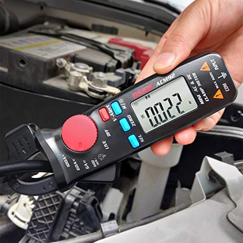 BSIDE DC Current Clamp Meter 6000 Counts Digital Multimeter Amp Continuity Ohm Hz Live Check V-Alert Voltage Tester with Back Clip