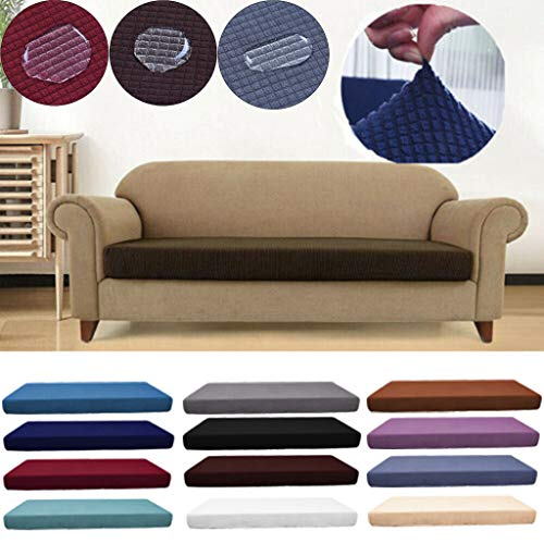 Nileco Waterproof High Stretch Sofa Seat Cushion,Checkered Fleece Sofa Cover,Machine Washable Furniture Protector Slipcover for 1-4 Seats