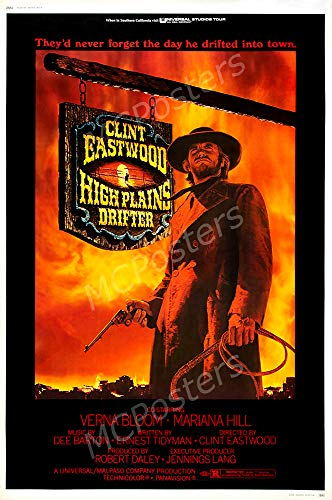 PremiumPrints - High Plains Drifter Clint Eastwood Glossy Finish Made in USA Movie Poster - MCP595 (24' x 36' (61cm x 91.5cm))