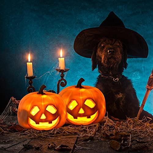 Lanterna Abóbora Para Projeção Halloween, Lanterna LED Jack-O-Lanterna Bateria, 40 Piadas Populares Integradas, Para Decoração Interiores E Exteriores
