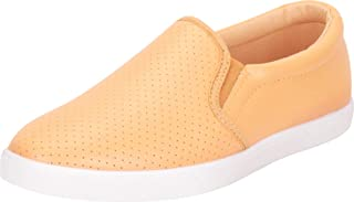 Cambridge Select Women's Round Toe Stretch Slip-On Flatform Fashion Sneaker