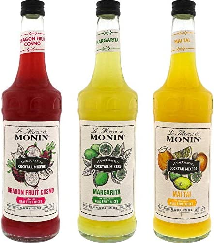 Monin HomeCrafted Cocktail Mixers Ready to Use Drink Mix DIY Cocktail Variety Pack Made with product image