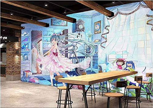 ZAMLE 3D Raum fototapete benutzerdefiniertes wandbild vlies schöne mädchen Anime und Manga malerei 3D wandbilder Wallpaper für wände 3 d, 250x175 cm