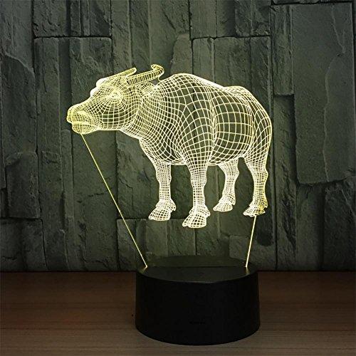 baby Q LED 3D Lampe, Lumières tactiles colorées acryliques, lumières créatives de Gradient de Cadeaux, lumière d'alimentation d'USB